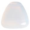 Glass Bead 23x24mm Drop White Opal - Strung
